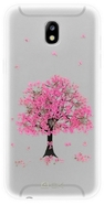 4-OK Flover Cover TPU Galaxy J7 2017, Pink Tree