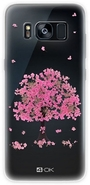 4-OK Flover Cover TPU Galaxy S8, Pink Tree