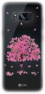 4-OK Flover Cover TPU Galaxy S8 Plus, Pink Tree