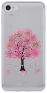 4-OK Flover Cover TPU pouzdro iPhone 7, Pink Tree