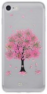 4-OK Flover Cover TPU pouzdro iPhone 8, Pink Tree
