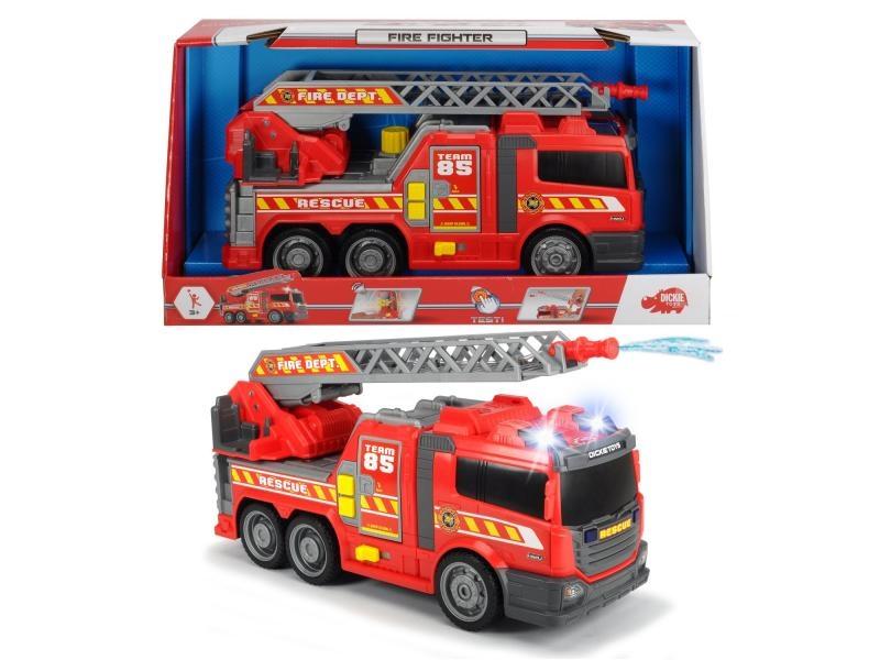 Action series hasičské auto 36cm, světlo, zvuk, ruční pumpa