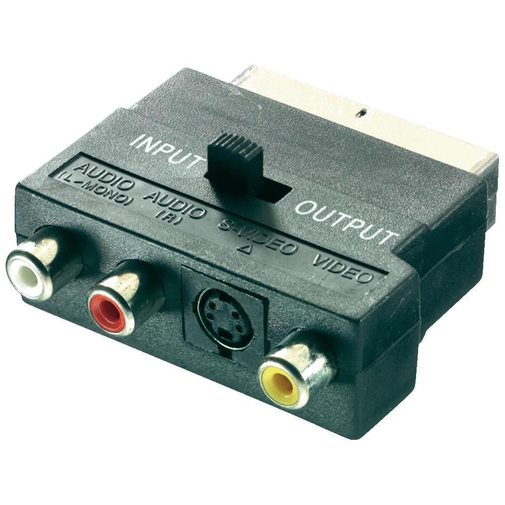 Adaptér scart / s-vhs cinch speaka