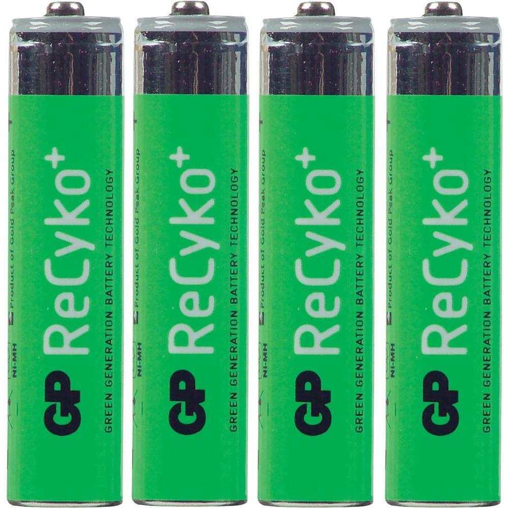 Akumulátory nimh gp recyko aaa, 850 mah, 4 ks