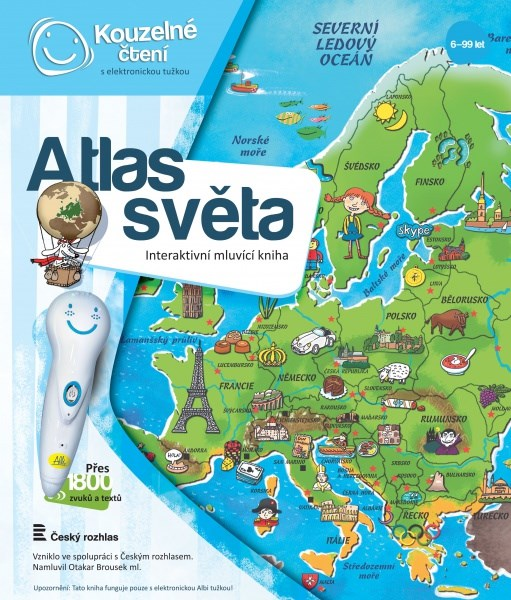 Albi kouzelné čtení - kniha atlas světa