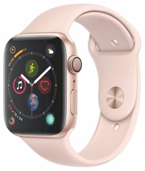 Apple watch s4 zlaté 44mm pískově růžový sport.řem