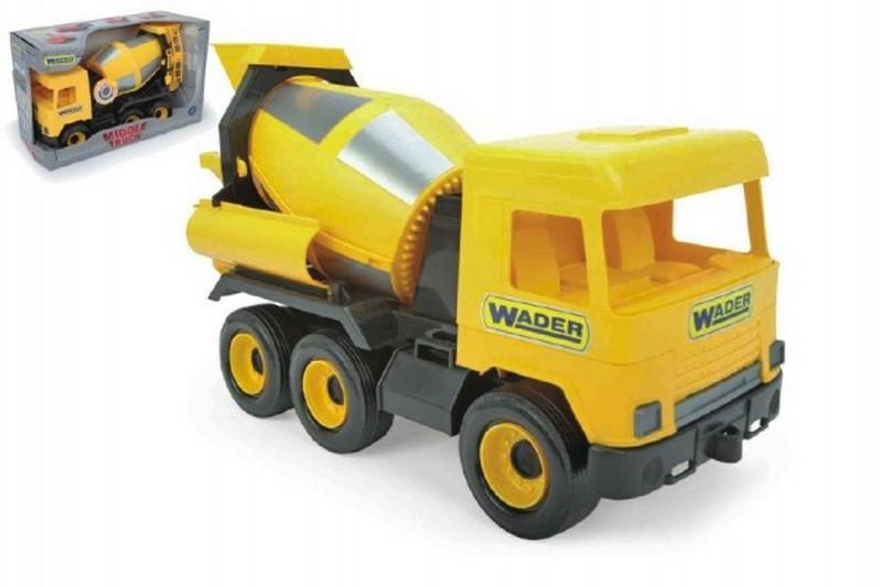 Auto middle truck domíchávač 40cm žlutý wader