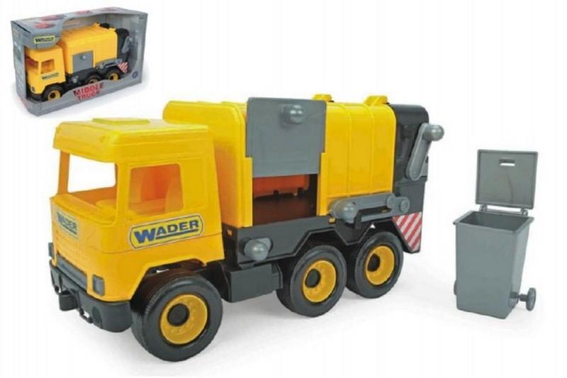 Auto middle truck popelář 42cm žlutý wader