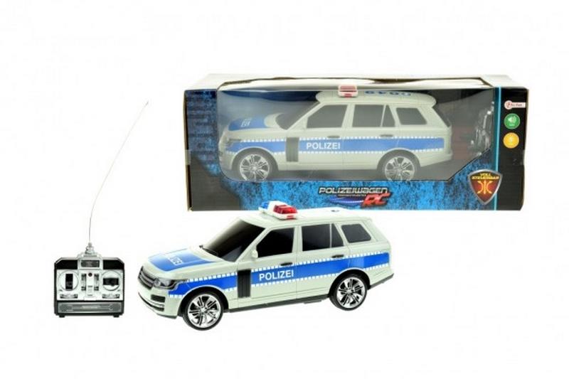 Auto rc policie plast 25cm na dálkové ovládání na baterie se…