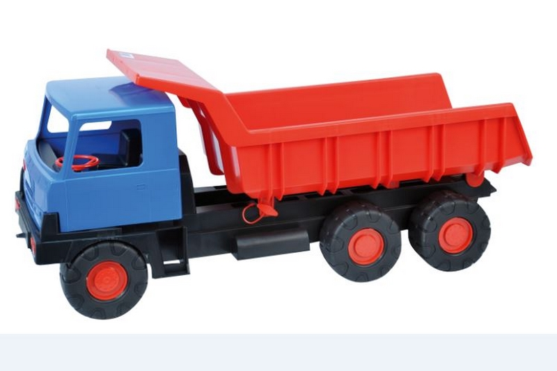Auto tatra 815 červená korba modrá kabina plast 75cm
