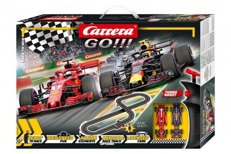 Autodráha carrera go!!! 62483 race to win 4,3m + 2 formule