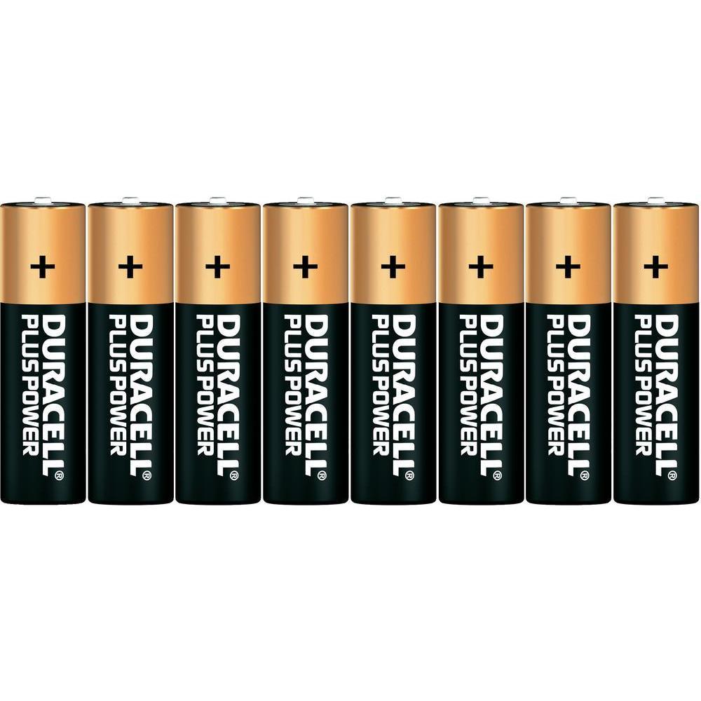 Baterie alkalická aa duracell plus, sada 8 ks
