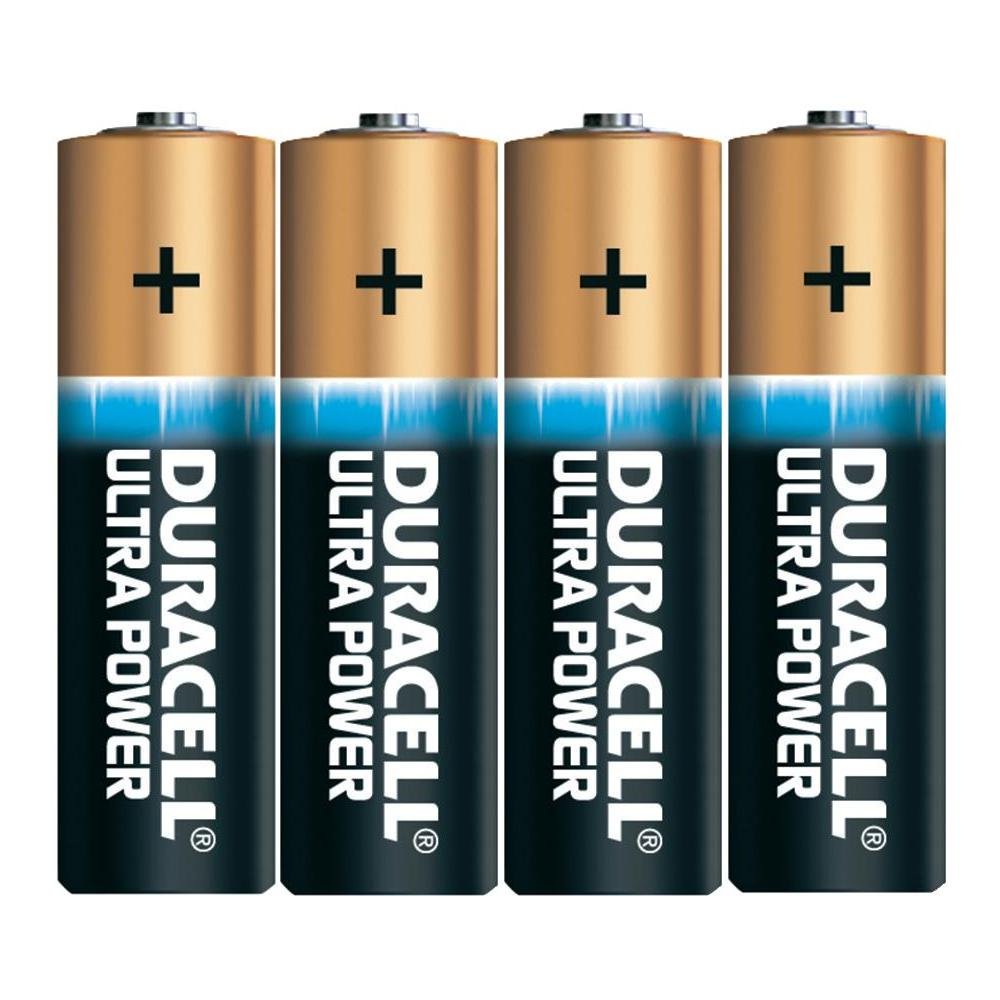 Baterie alkalická aa duracell ultra, sada 4 ks