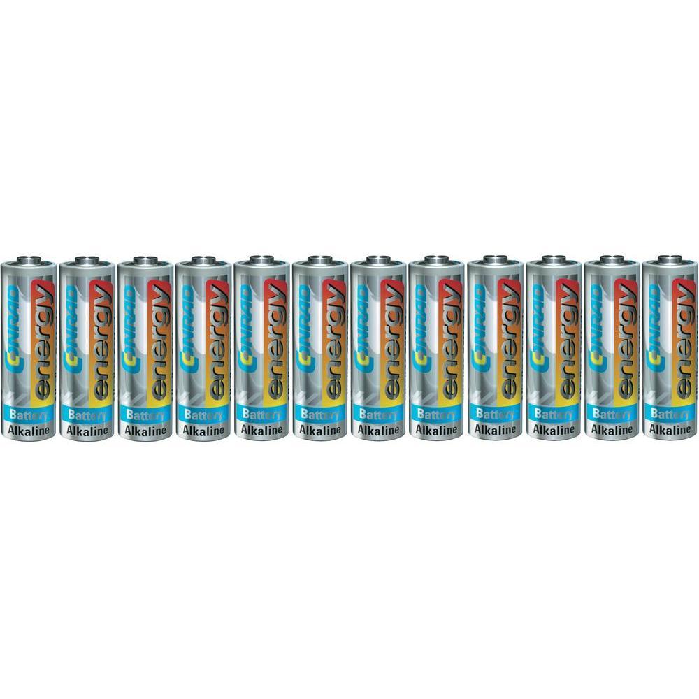 Baterie conrad energy alkaline, typ aa, sada 12 ks