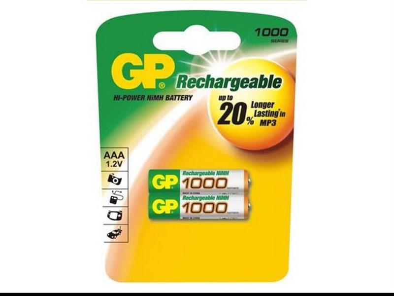 Baterie gp aaa(mikro) 1000mah blistr 2 ks