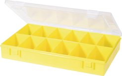 ca2df60317280 skladem u dodavatele Box na součástky Alutec 611800, 335 x 225 x 55 mm,  žlutá