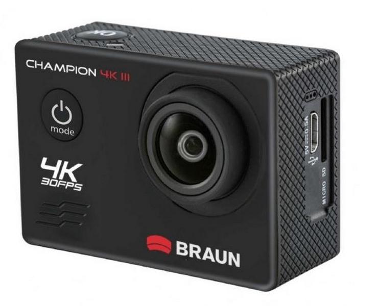 Braun outdoorová videokamera champion 4k iii, wifi, vodotěsné…