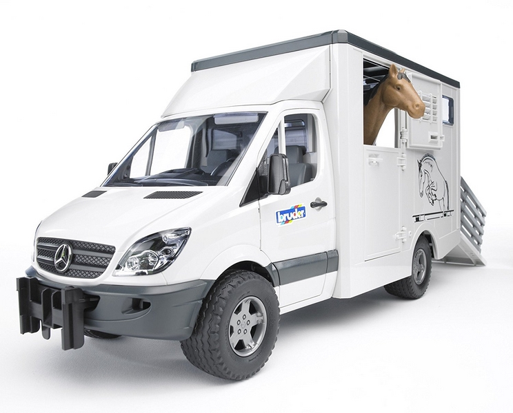 Bruder 2533 mercedes benz sprinter - přepravník s koněm