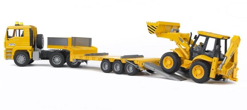 Bruder 2776 nákladní auto man - návěs + traktor jcb
