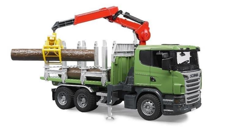 Bruder 3524 nákladní auto scania přepravník na dřevo