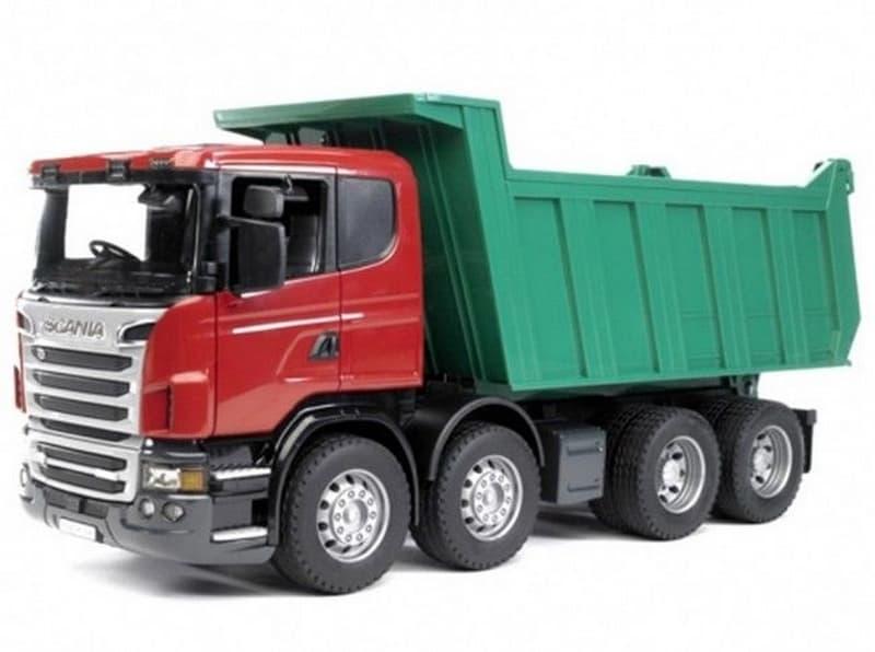 Bruder 3550 nákladní auto scania sklápěč