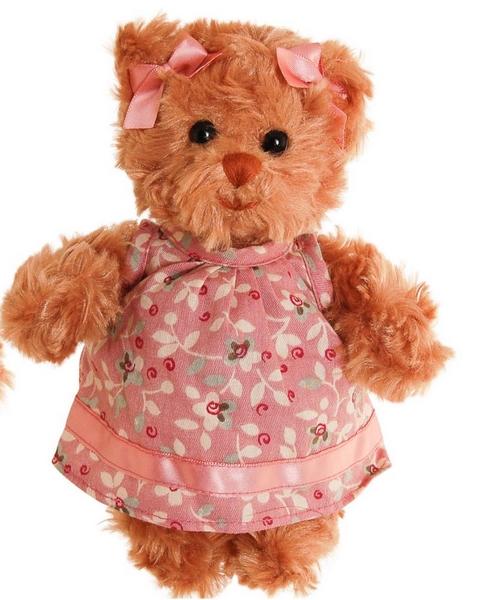 Bukowski little hedvig medvídek v růžových šatech (15cm)