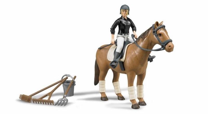 Bworld 62505 jezdecký set - kůň, žena a příslušenství