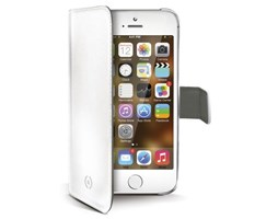 Celly wally pouzdro pu kůže apple iphone 5, white