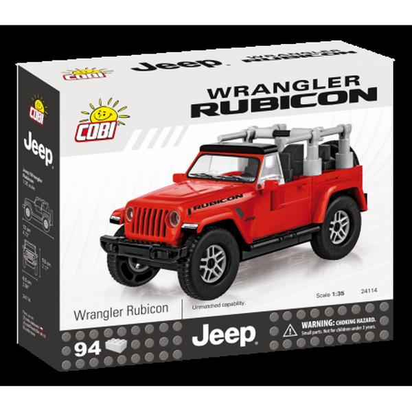 Cobi 24114 jeep wrangler rubicon 1:35, červený, 94 k