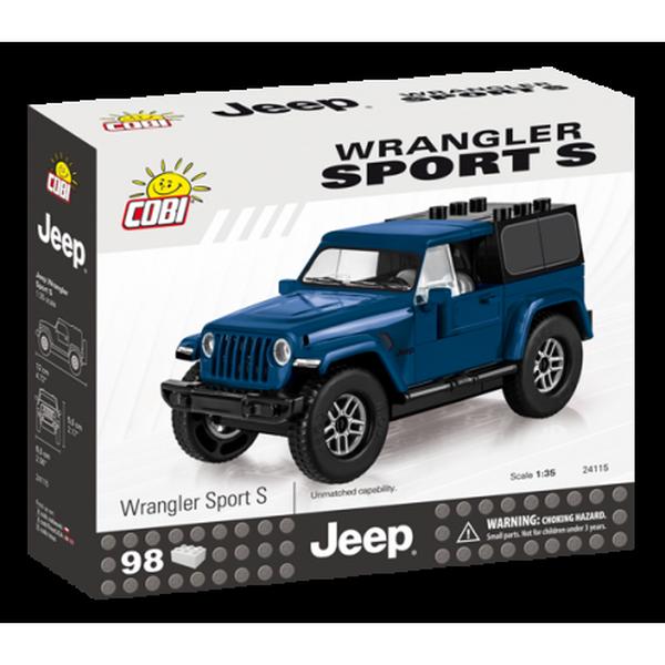 Cobi 24115 jeep wrangler sport s 1:35, modrý, 98 k