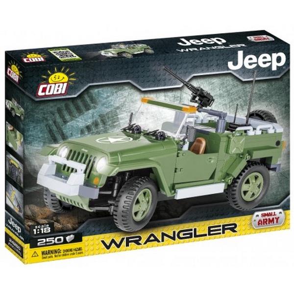Cobi 24260 jeep wrangler vojenský, 250 k