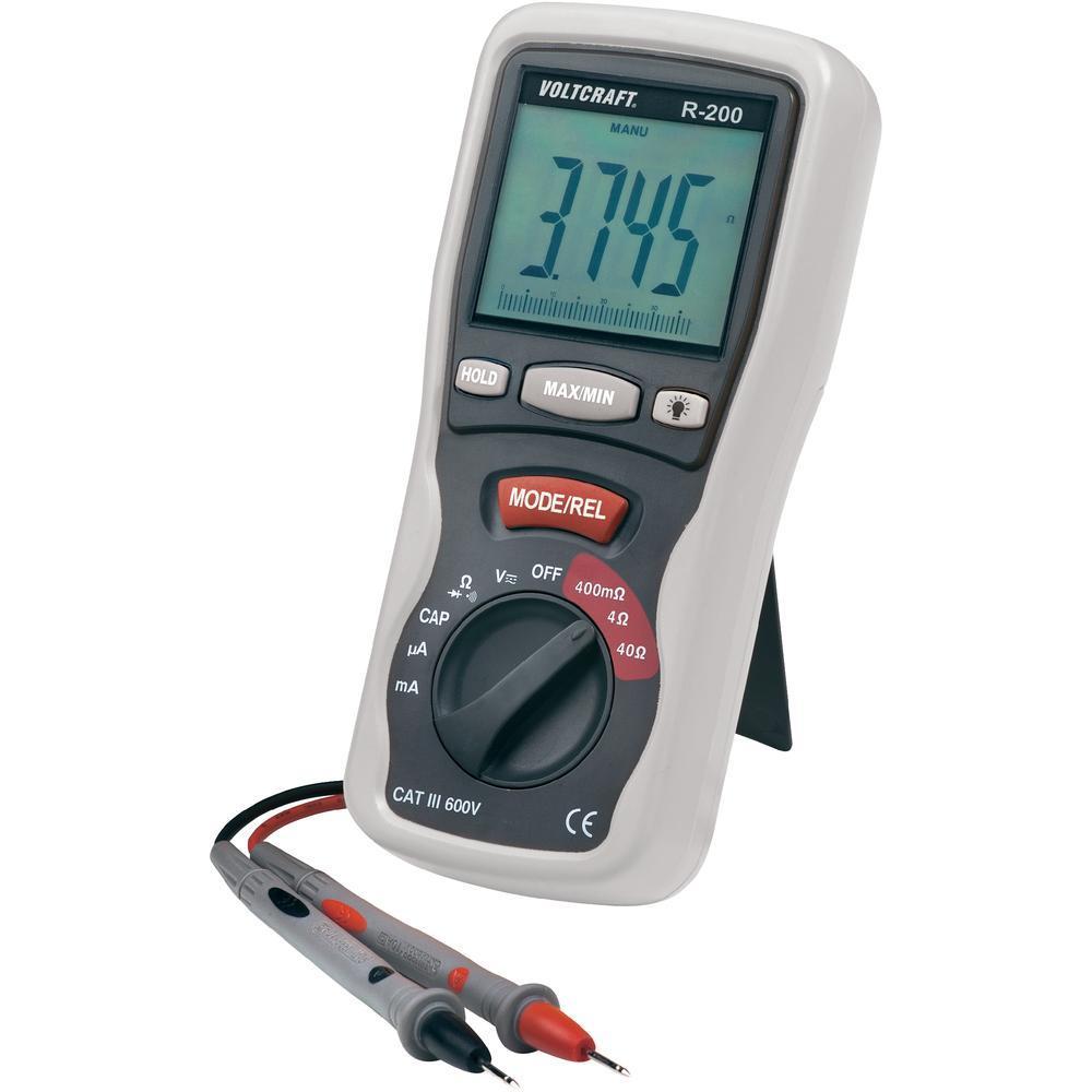 Digitální multimetr s miliohmmetrem voltcraft r-200