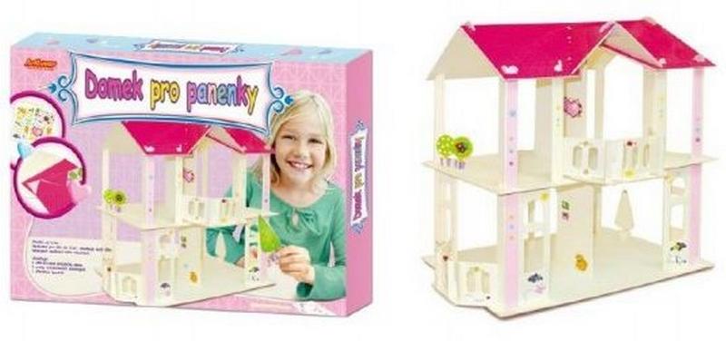 Domek pro panenky dřevěný skládačka