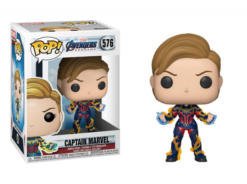 Funko pop marvel: endgame - captain marvel w/new hair