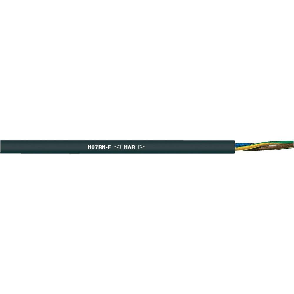 Gumový kabel lappkabel h07rn-f, 5x6 mm2, černá