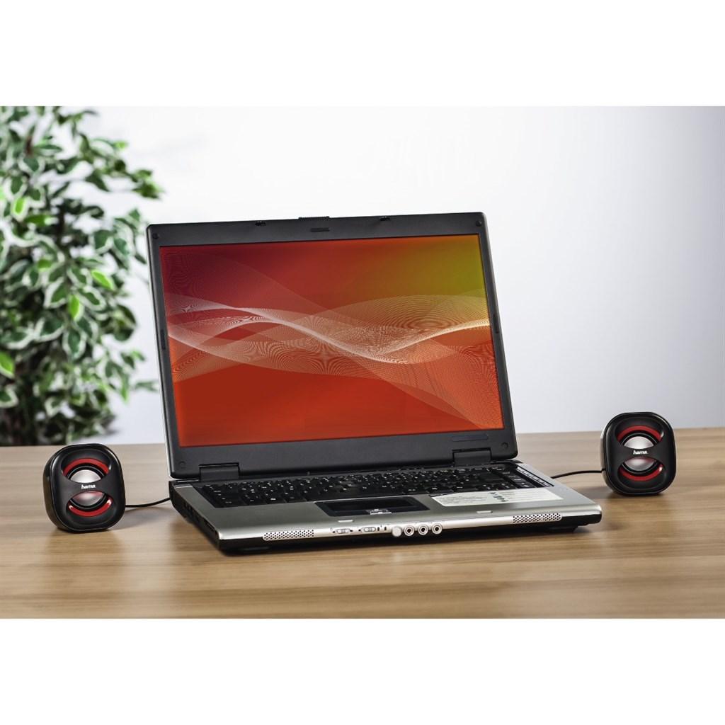 Hama reproduktory k notebooku sonic mobil 183, černá/červená