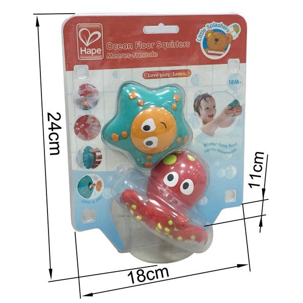 Hračky do vody - stříkací chobotnice s hvězdicí