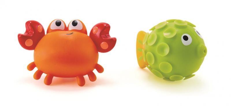 Hračky do vody - stříkací krab s rybkou