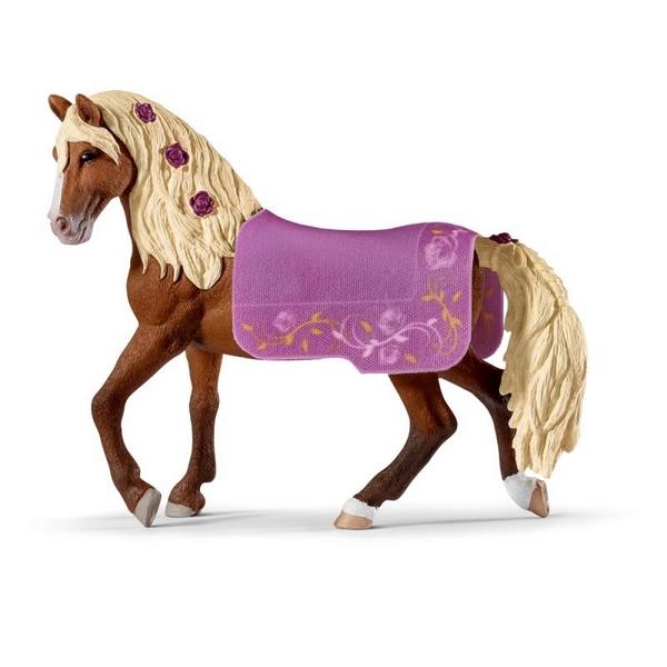 velká kořist dívka na koni kohout