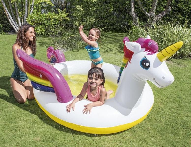 Intex 57441 dětský bazén jednorožec 272x193x104cm