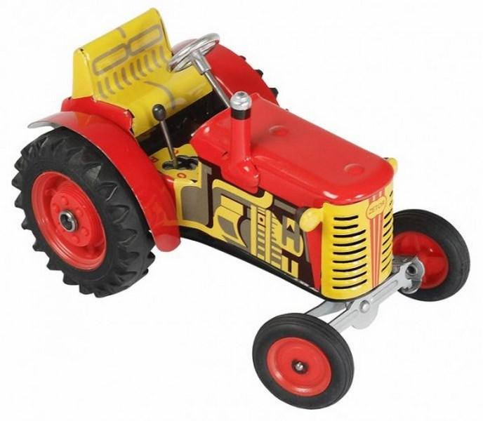 Kovap traktor zetor červený kovap