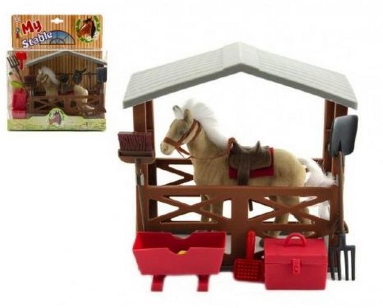 Kůň fliška se stájí a doplňky