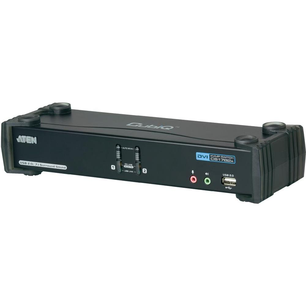 Kvm switch aten pro usb a dvi dual link s přenosem zvuku a usb 2.0…