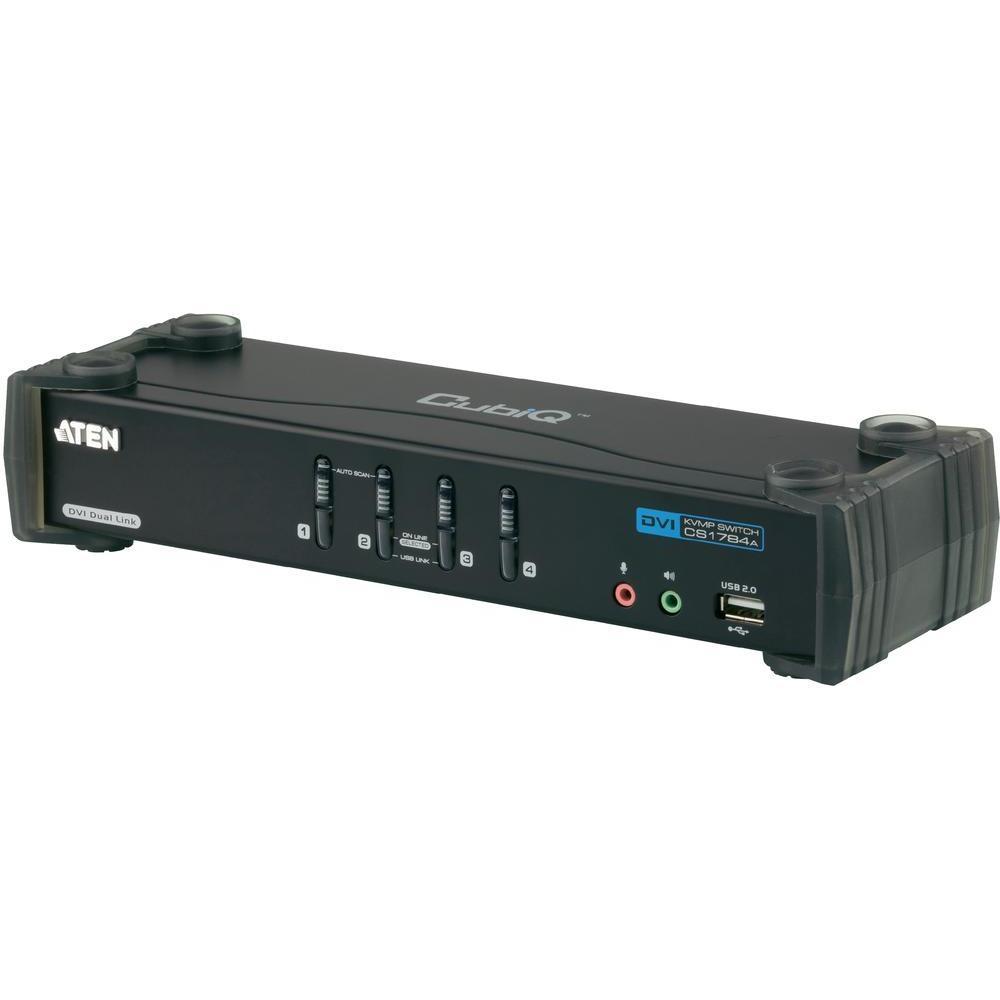 Kvm switch aten pro usb a dvi-dual-link s přenosem zvuku a usb 2.0…