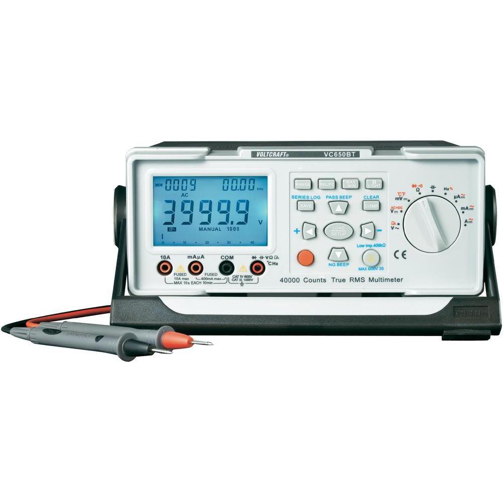 Laboratorní digitální multimetr voltcraft vc-650bt