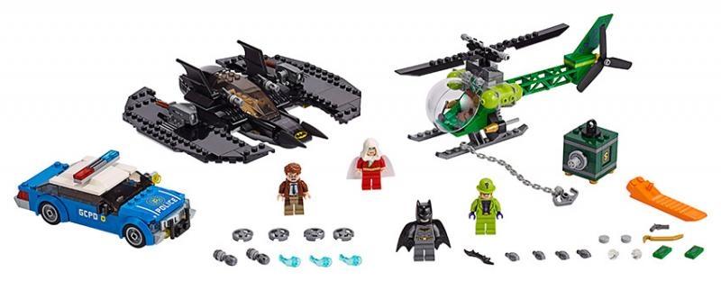 Lego dc super heroes 76120 batmanovo letadlo a hádankářova krádež
