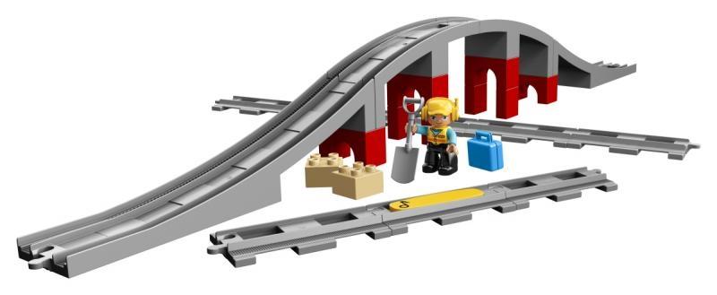 Lego duplo 10872 doplňky k vláčku - most a koleje