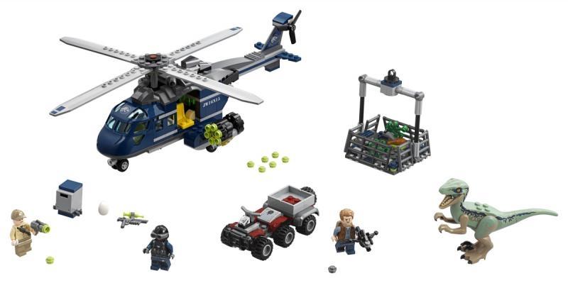 Lego jurský svět 75928: pronásledování bluea helikoptérou