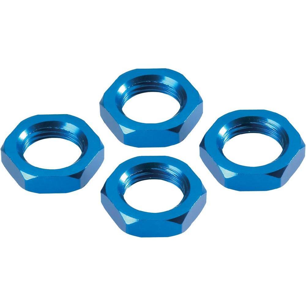 Matice kola reely mv106b, 1:8, 17 mm, modrý hliník, 4 ks