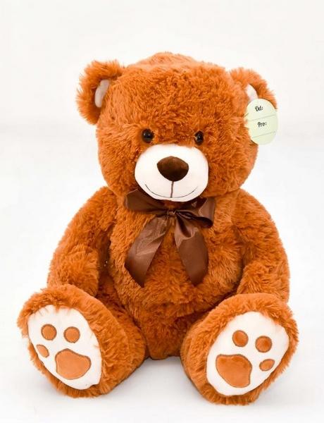 Medvídek sedící světle-hnědý, 40 cm